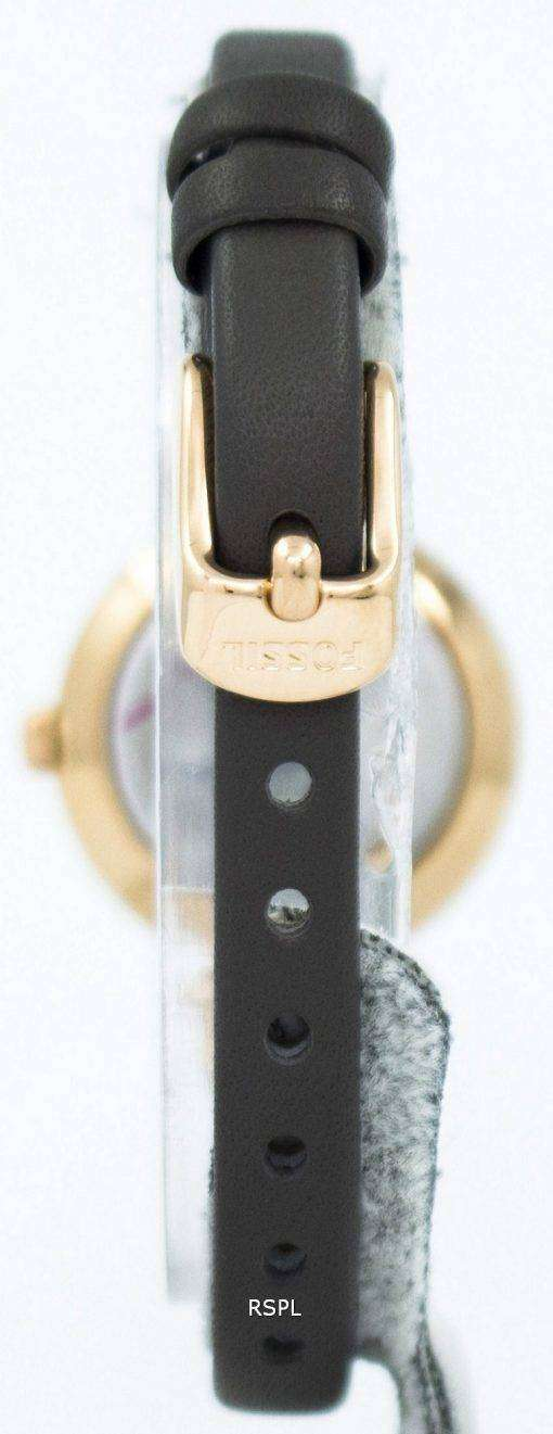 Fossil Georgia Rose Dial Grey Leather ES3862 Womens Watch