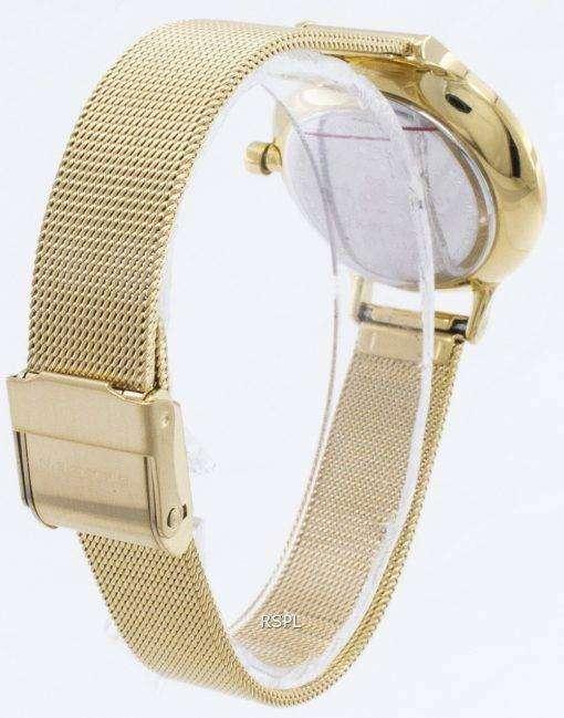 Skagen Anita Gold Tone Mesh Bracelet Crystallized SKW2150 Womens Watch