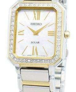 Seiko Conceptual SUP428P SUP428P1 SUP428 Diamond Accents Solar Women's Watch