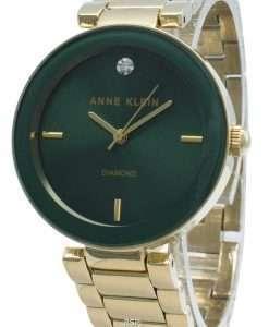 Anne Klein 1362GNGB Diamond Accents Quartz Women's Watch