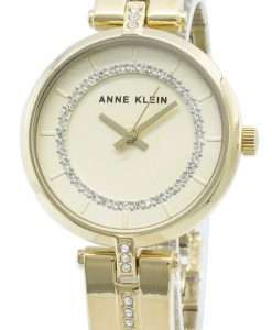 Anne Klein 3248CHGB Diamond Accents Quartz Women's Watch