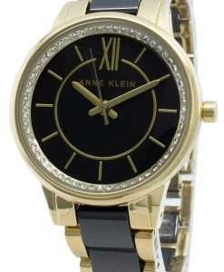 Anne Klein 3344BKGB Diamond Accents Quartz Women's Watch