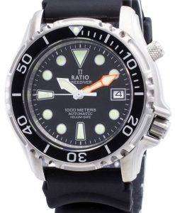 Ratio Free Diver Helium Safe 1000M Stainless Steel Automatic 1066KE20-33VA-BLK Men's Watch