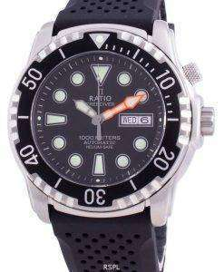 Ratio Free Diver Helium-Safe 1000M Sapphire Automatic 1068HA90-34VA-BLK Men's Watch