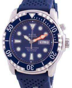 Ratio Free Diver Helium-Safe 1000M Sapphire Automatic 1068HA90-34VA-BLU Men's Watch