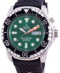 Ratio Free Diver Helium-Safe 1000M Sapphire Automatic 1068HA90-34VA-GRN Men's Watch