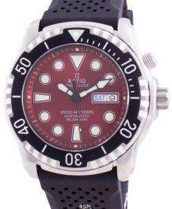 Ratio Free Diver Helium-Safe 1000M Sapphire Automatic 1068HA90-34VA-RED Men's Watch