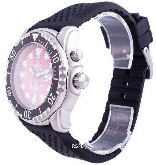 Ratio Free Diver Helium-Safe 1000M Sapphire Automatic 1068HA90-34VA-RED Men's Watch