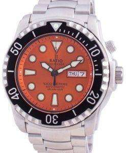 Ratio Free Diver Helium-Safe 1000M Sapphire Automatic 1068HA96-34VA-ORG Men's Watch