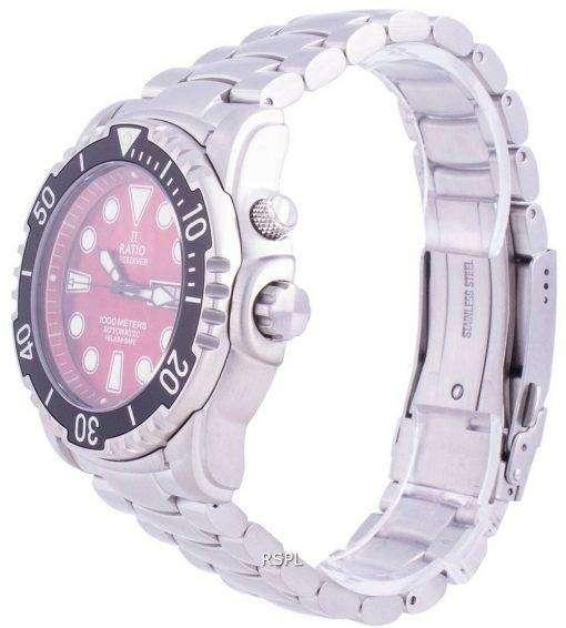 Ratio Free Diver Helium-Safe 1000M Sapphire Automatic 1068HA96-34VA-RED Men's Watch