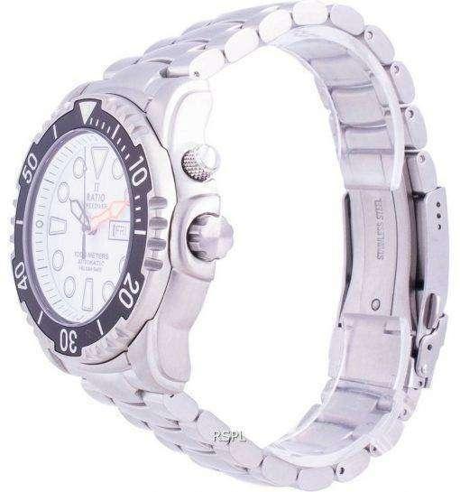 Ratio Free Diver Helium-Safe 1000M Sapphire Automatic 1068HA96-34VA-WHT Men's Watch