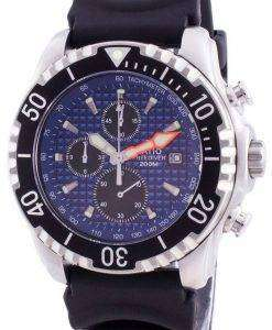 Ratio 200m Diver Quartz Chronograph Sapphire 48HA90-17+CHR-BLU Men's Watch