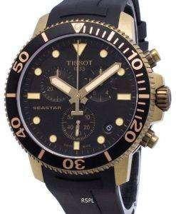 Tissot Diver's Seastar T120.417.37.051.01 T1204173705101 Chronograph Quartz 300M Men's Watch