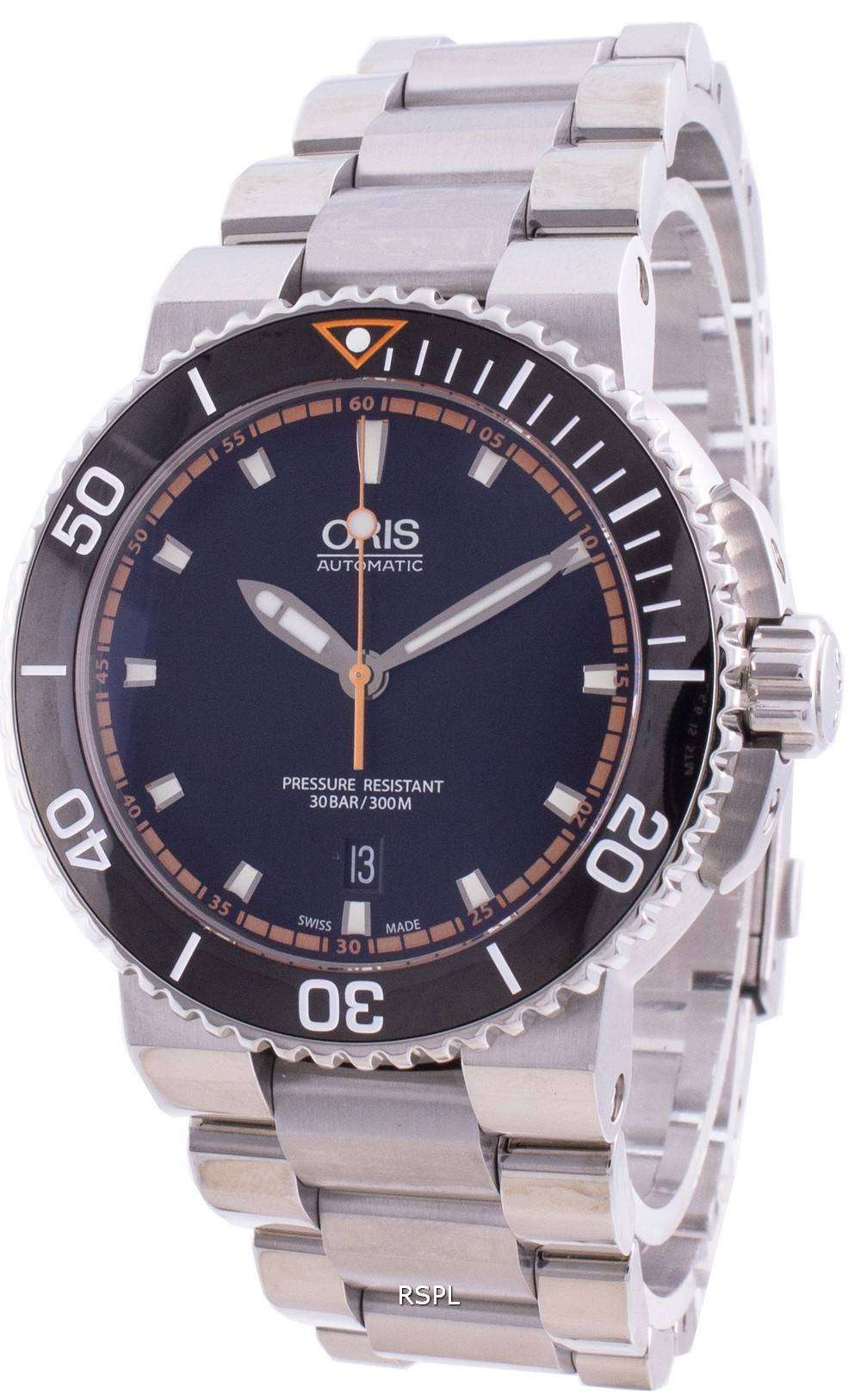 Oris Aquis Date 01-733-7653-4128-07-8-26-01PEB Automatic 300M Men's Watch