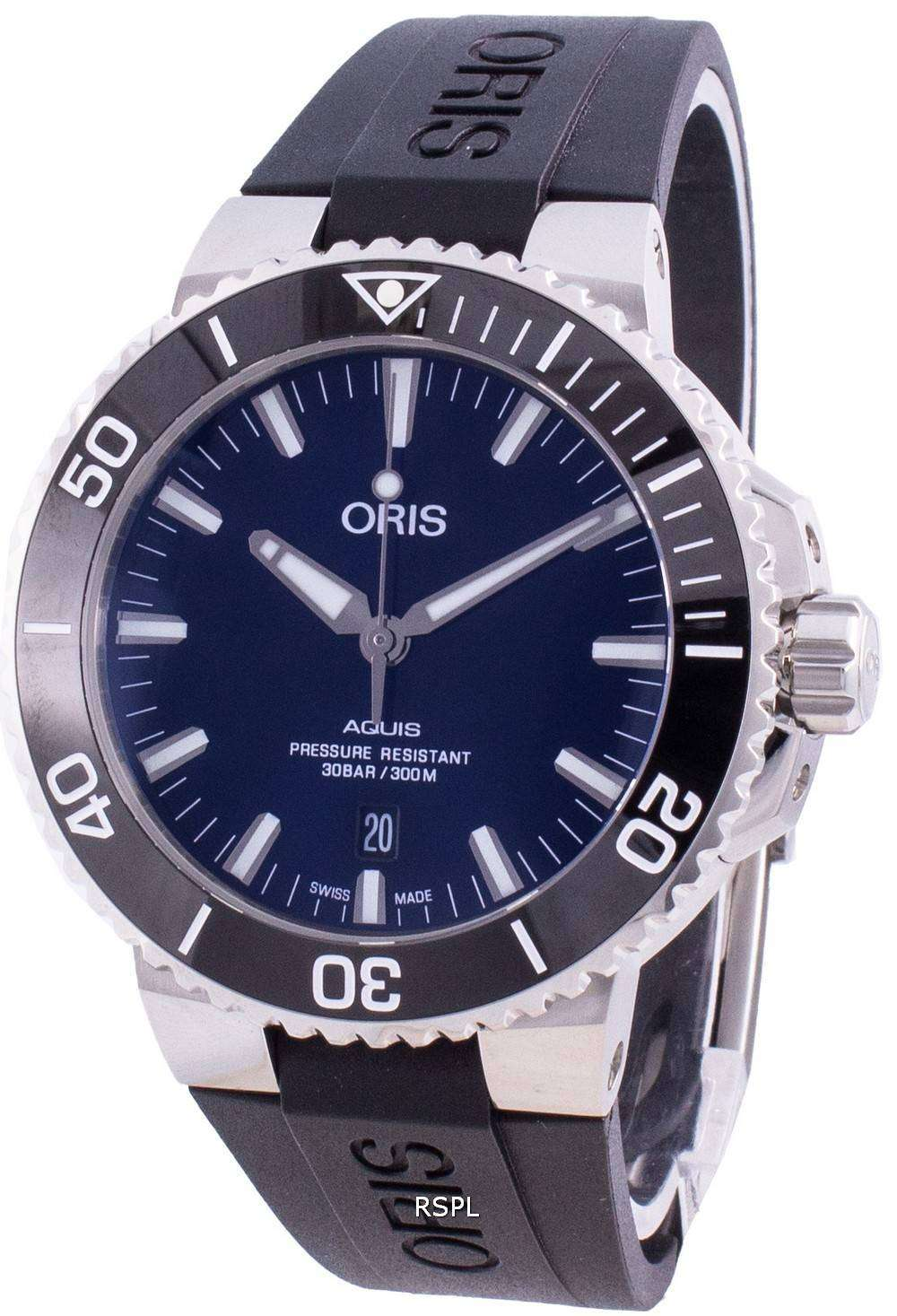 Oris Aquis Date 01-733-7730-4135-07-4-24-64EB Automatic 300M Men's Watch
