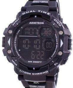 Armitron Sport 408309BLK Quartz Dual Time Men's Watch