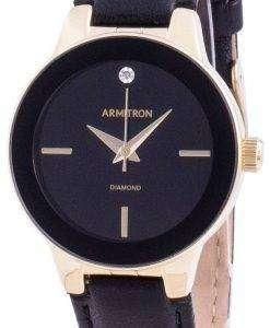 Armitron 755410BKGPBK Quartz Diamond Accents Women's Watch
