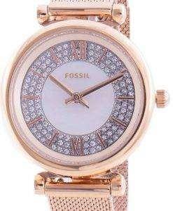 Fossil Carlie Mini ES4836 Quartz Diamond Accents Women's Watch