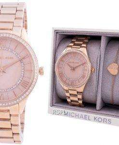 Michael Kors Lauryn MK4491 Quartz Diamond Accents With Gift Set Women's Watch