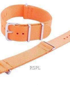 Seiko Orange NATO7 Nylon Strap 22mm