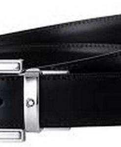 Montblanc 111092 Classic Line Rectangular Reversible Men's Black/Brown Leather Belt