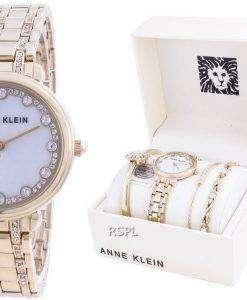 Anne Klein Swarovski Crystal Accented 3488GPST Quartz With Gift Set Women's Watch