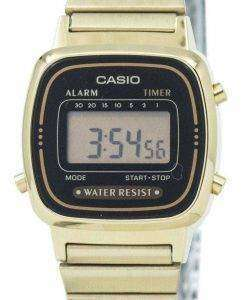 Casio Digital Stainless Steel Alarm Timer LA670WGA-1DF LA670WGA-1 Women's Watch