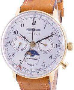 Zeppelin Hindenburg LZ129 7039-1 70391 Quartz Moon Phase Men's Watch