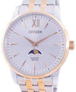 Citizen Moonphase Silver Dial Quartz AK5006-58A Men's Watch