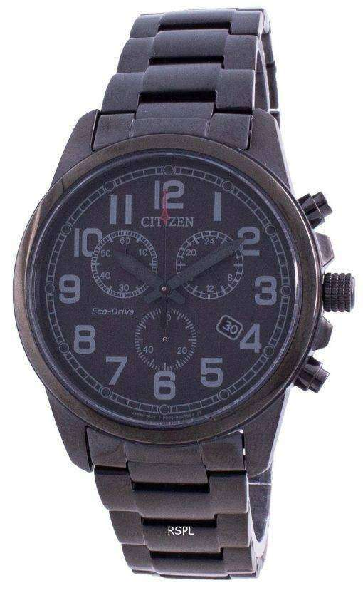 Citizen Chandler Chronograph Black Dial Eco-Drive AT0205-52E 100M Men's Watch