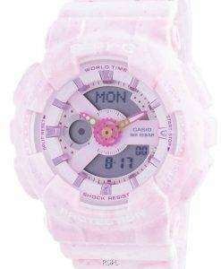 Casio Baby-G World Time Shock Resistant BA-110PI-4A BA110PI-4 100M Womens Watch
