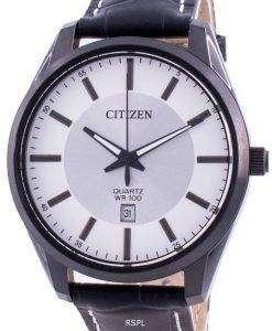 Citizen Silver Dial Leather Strap Quartz BI1035-09A 100M Men's Watch