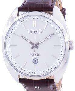Citizen White Dial Leather Strap Quartz BI5090-09A Men's Watch