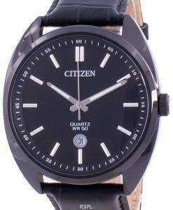 Citizen Black Dial Leather Strap Quartz BI5095-05E Men's Watch