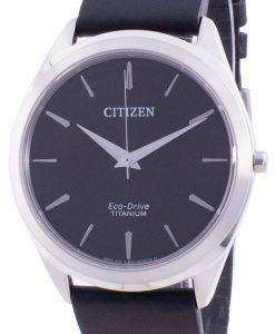 Citizen Black Dial Leather Strap Eco-Drive BJ6520-15E Men's Watch