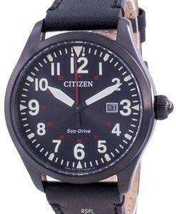 Citizen Black Dial Leather Strap Eco-Drive BM6835-23E 100M Men's Watch