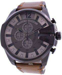 Diesel Mega Chief Chronograph Grey Dial Quartz DZ4463 100M Men's Watch