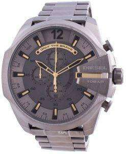 Diesel Mega Chief Chronograph Grey Dial Stainless Steel Quartz DZ4466 100M Men's Watch
