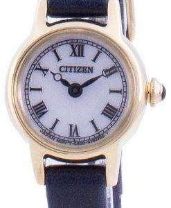 Citizen White Dial Leather Strap Eco-Drive EG2995-01A Women's Watch