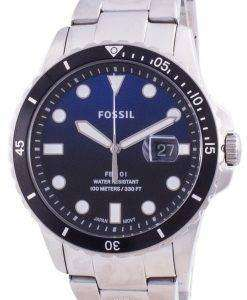 Fossil FB-01 Blue Dial Stainless Steel Quartz FS5668 100M Men's Watch