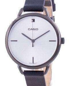 Casio Silver Dial Leather Strap Quartz LTP-E415GRL-1C LTPE415GRL-1C Women's Watch