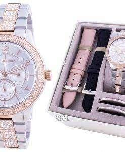 Michael Kors Runway Diamond Accents Quartz MK6727 With Strap Gift Set Women's Watch