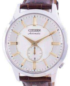 Citizen Beige Dial Automatic Japan Made NK5000-12P Mens Watch