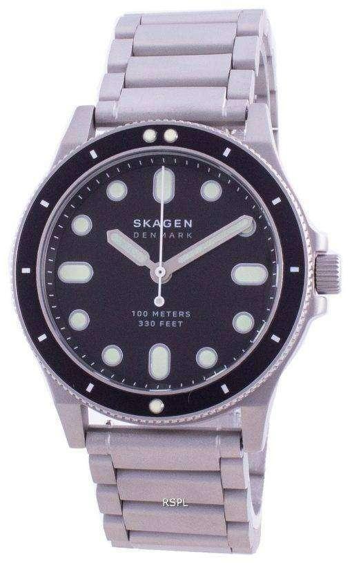 Skagen Fisk Black Dial Stainless Steel Quartz SKW6666 100M Men's Watch