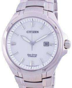 Citizen Super Titanium Silver Dial Eco-Drive BM7430-89A 100M Men's Watch