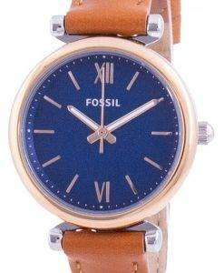 Fossil Carlie Mini Blue Dial Quartz ES4701 Women's Watch
