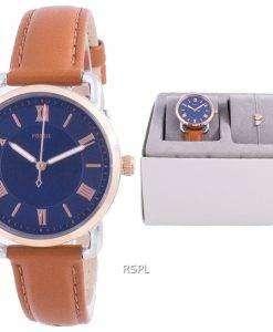 Fossil Copeland Blue Dial Quartz ES4913SET With Gift Set Women's Watch