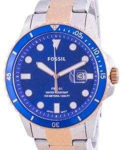 Fossil FB-01 Blue Dial Stainless Steel Quartz FS5654 100M Men's Watch