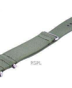 Ratio Nato9 Green Nylon Strap 22mm