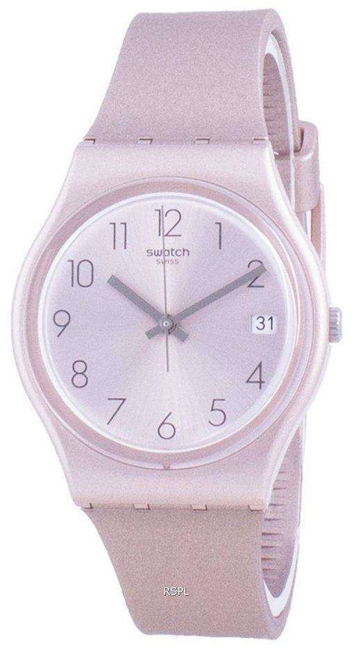 Swatch Pinkbaya Rose Gold Tone Dial Quartz GP403 Mens Watch